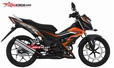 Modifikasi Honda Sonic 150 Terbaru by Modifikasi Striping Honda Sonic 150r Terbaru