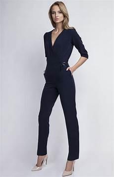 Combinaison Pantalon Bleu Marine Lan 108 Bl Idresstocode