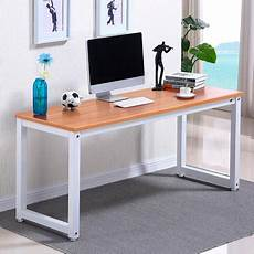Simple Work Desk by Yaheetech Modern Simple Design Home Office Desk Computer