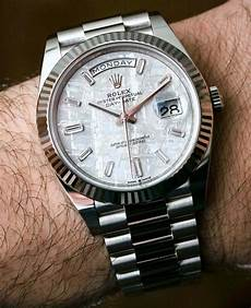 rolex day date 40 white gold meteorite 228239