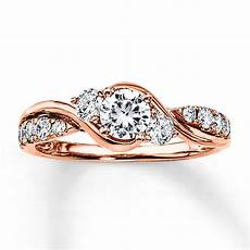 diamond engagement ring 7 8 ct tw round cut 14k rose gold 99150410999 jared