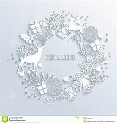 white merry christmas wreath greeting card stock vector illustration of graphic composition