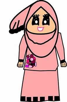 Muslimah Doodle Raya Clip At Clker Vector Clip