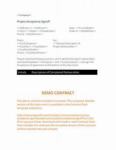 project acceptance partial signoff 3 easy steps