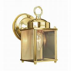 design house coach polished brass outdoor wall downlight 502633 the home depot