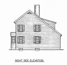 side view house plans saltbox house plan view of right side saltbox houses