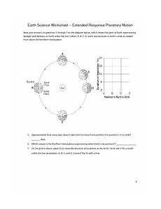 earth science worksheets high school 13227 image result for rotation and revolution worksheet high school earth science earth science