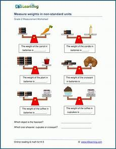 measurement worksheets k5 learning 1488 grade 2 weight worksheets measure weights in non standard units k5 learning 2nd grade math