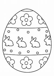easter egg coloring pages for preschool and