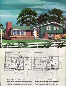 split level house plans 1960s 1960 in 2020 vintage house plans split level house