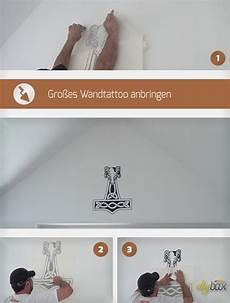 Gro 223 Es Wandtattoo Anbringen Anleitung Tipps Diybook De