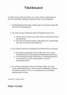 Muster Antrag Erbschein Testament - testament muster vorlage muster vorlagen und