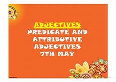 adjectives predicate and attributive adjectives worksheet free esl projectable worksheets