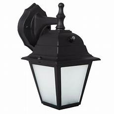 maxxima led porch lantern outdoor wall light black w frosted glass photocell sensor 700