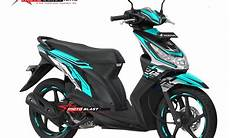 Airbrush Beat Karbu by Modifikasi Striping Honda Beat Karbu Black Hitech Motoblast