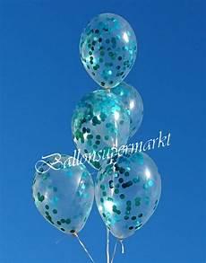 ballons mit konfetti konfetti ballons transparent gef 252 llt mit konfetti in t 252 rkis