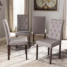 baxton studio gardner upholstered dining chairs set of 4