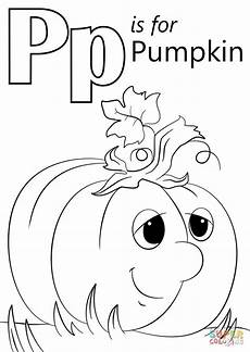 Ausmalbilder Buchstaben P Letter P Is For Pumpkin Coloring Page From Letter P