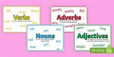 nouns adjectives verbs and adverbs with definitions