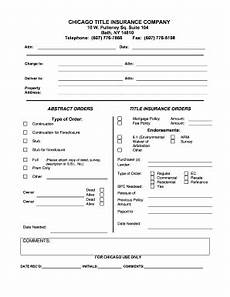 bath order form chicago title insurance company fill