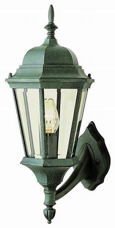 one light verde green clear beveled glass wall lantern
