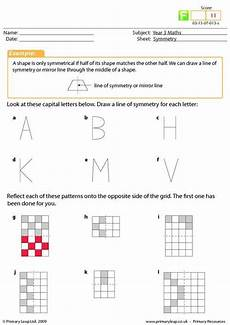patterns worksheets ks2 133 symmetry worksheet a primary resource for ks2 on symmetry the child will need to draw a line