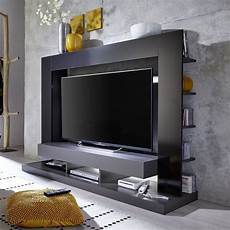 tt05 meuble tv mural avec led contemporain gris mat et