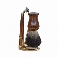 kit de rasage pour homme set de rasage pour homme avec rasoir gii bois fonc 233 omega