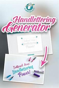 dein handlettering generator vorlagen gestalten