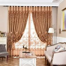 gardinen braun moderne gardine braun jacquard lotus im wohnzimmer