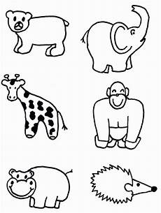 Malvorlage Tiere Einfach Animal Shapes To Cut Out Coloring Home
