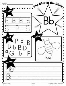 letter b worksheet tracing coloring writing more supplyme