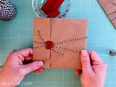 diy vintage parcel wedding invitation wrap
