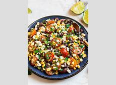 corn fritters with black bean salad_image