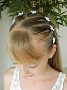 Kommunion Frisur Geflochten - communion hairstyle 1 3 pigtails