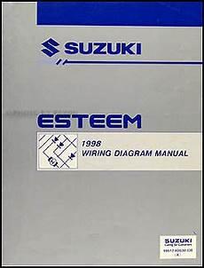 1998 suzuki esteem wiring diagrams 1997 suzuki esteem repair shop manual supplement original