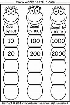 skip counting worksheets 11994 skip counting by 10 100 and 1000 free printable worksheets worksheetfun начальная школа