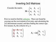 ppt inverting 3x3 matrices powerpoint presentation id