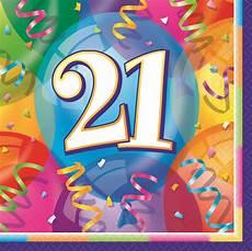 21 Geburtstag 16 Servietten