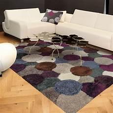 tapis shaggy gris et prune arte espina 70x140