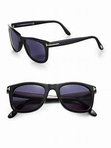 tom ford leo sunglasses in black for lyst