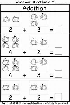 addition worksheets for preschool with pictures 9948 practice adding single digit numbers and writing the sums on this themed kindergarten