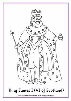 king james i colouring page 2 history coloring sheets