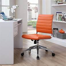 home depot office furniture modway jive armless mid back office chair in orange eei
