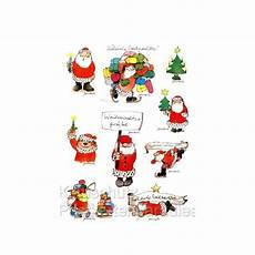 stickerkarte janosch weihnachten weihnachtsmann