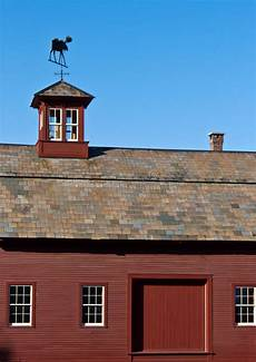 barn cupola barn with slate roof and cupola stock images image