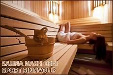 sauna nach dem sport