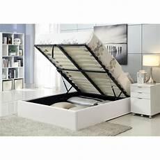 cadre de lit avec coffre majesty lit coffre adulte 140x190 sommier blanc achat