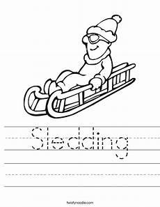 winter sports worksheets 15893 sledding worksheet twisty noodle