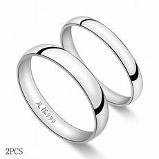 engravable 999 pure silver rings sterling silver wedding bands couple rings com